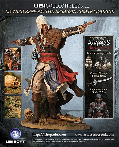 Assassin's Creed (Multi) 2007 Statue-UbiArts-AC4-Edward